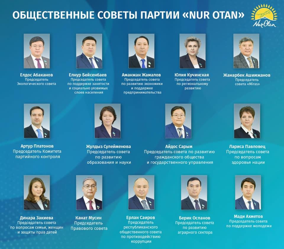 Общественные советы проконтролируют ход реализации предвыборной программы Nur Otan