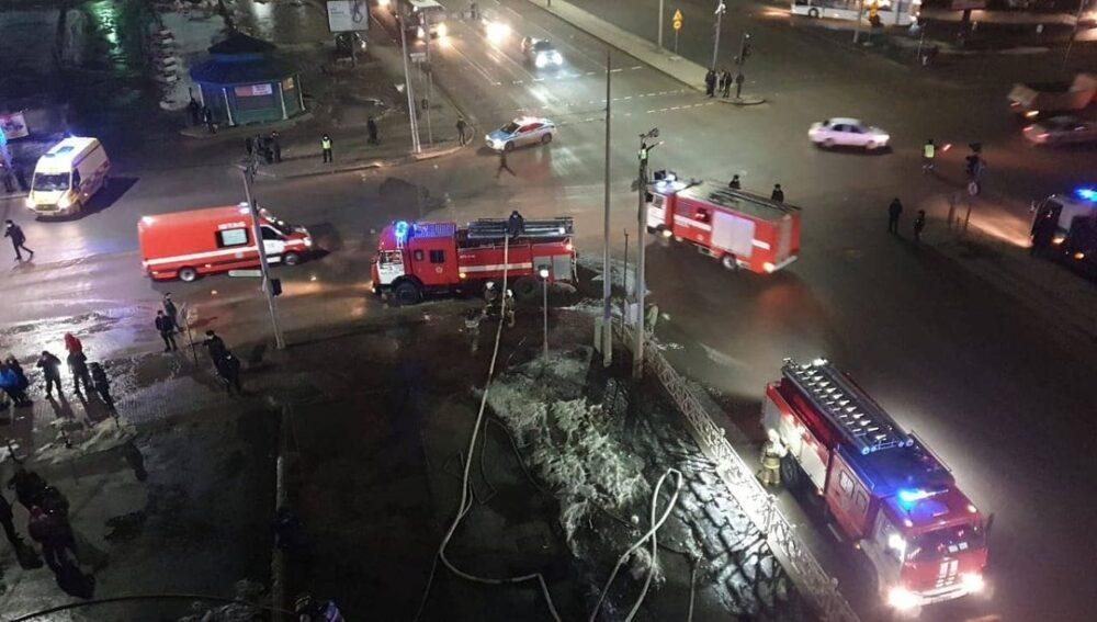 Пожар на рынке Шапагат в Нур-Султане ликвидирован