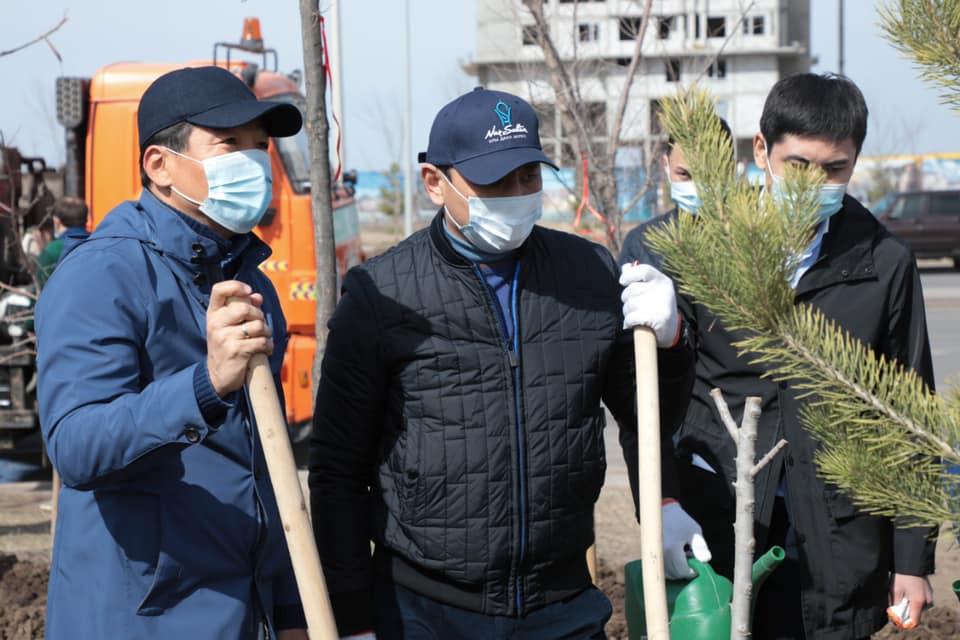 Бауыржан Байбек принял участие в акции Birge – Тaza Qazaqstan 2