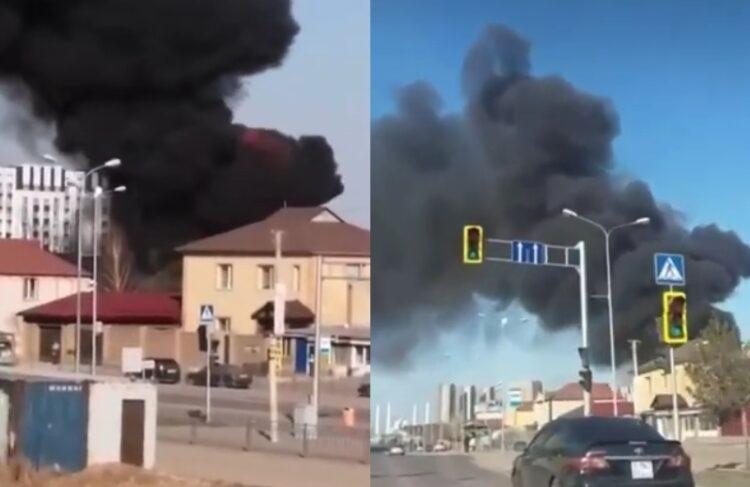 Частный коттедж сгорел в Нур-Султане 1