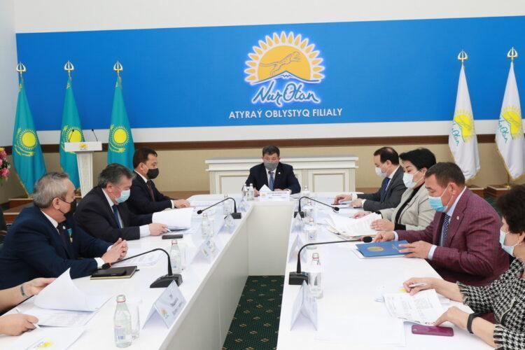 В Атырауском областном филиале партии Nur Otan состоялось заседание бюро Политического совета 1