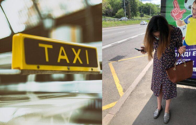 Фото: с Facebook / на фото девушка, которую таксист попросил прикрыть ноги