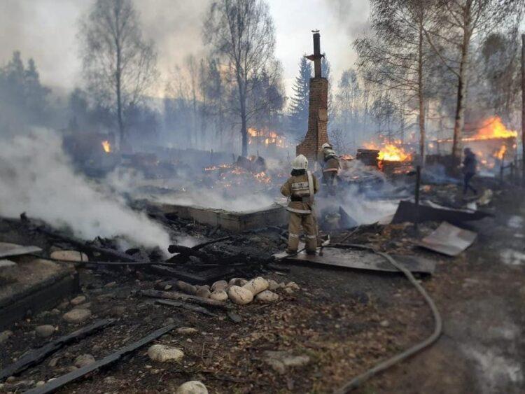 Страшный пожар в Риддере 1