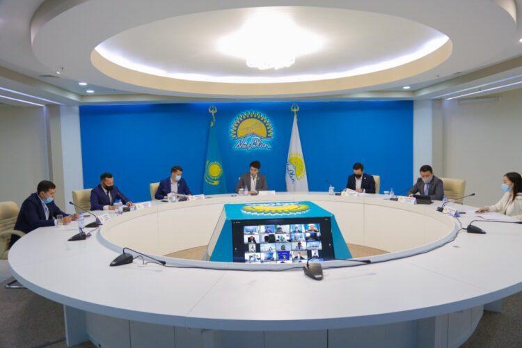 Закрепить законодательно понятие «молодой предприниматель» предложили на заседании молодежного совета Nur Otan 1
