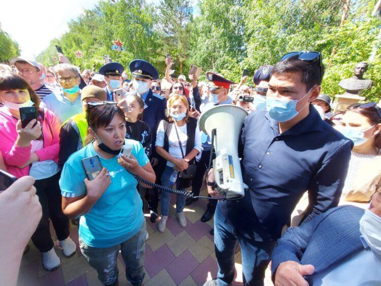 "Фото: митинг в Костанае. ""Новая газета"""