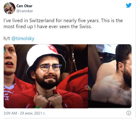 Швейцарский футбольный фанат стал героем мемов и заработал на этом 1