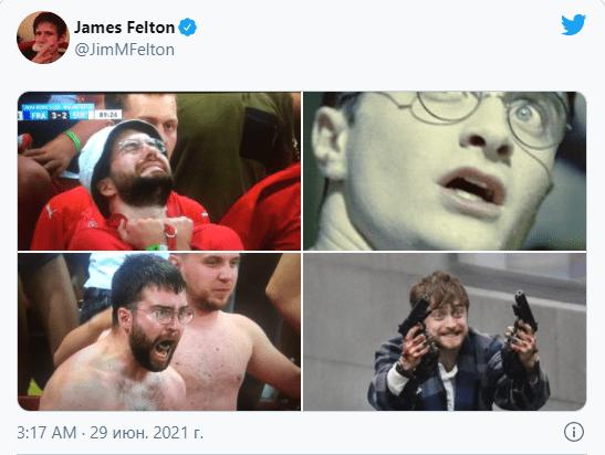 Швейцарский футбольный фанат стал героем мемов и заработал на этом 2