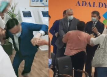Казахстанцы напали на представителей Минздрава 1
