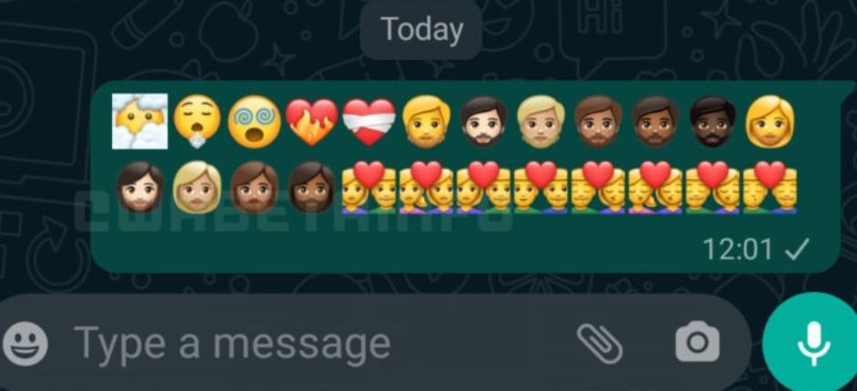 В WhatsApp появились новые смайлы. И они удивляют