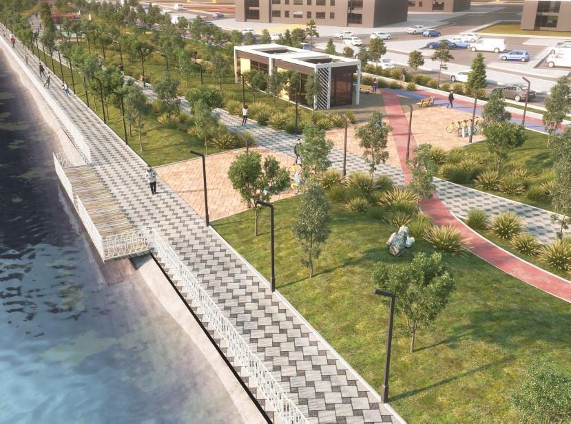Проект новой набережной представили в Нур-Султане