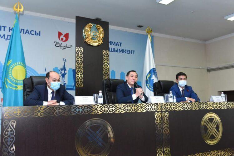 Встреча с руководителями АНК и председателями этнокультурных объединений города Шымкент 1