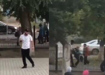 Пьяный мужчина приставал к школьникам в Уральске 2