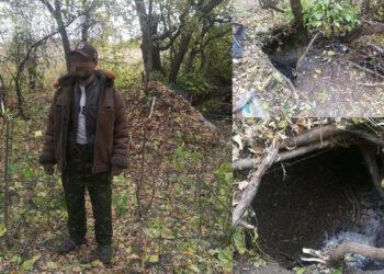 Вырыл землянку, питался ранетками: в СКО в лесу нашли пропавшего мужчину 4